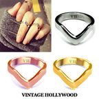 [1+1]Ring Finger Lucky V Knuckle Ring