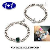 [1+1]Easy Layered Petit Chain Bracelet