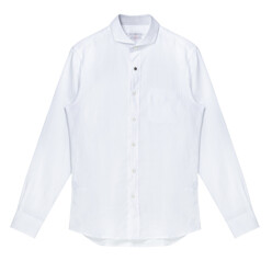 Spread Collar Linen Shirt...