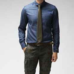 Lar Solid Denim Shirts