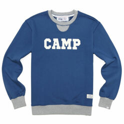 Camp Crewneck-Blue/Grey