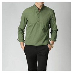Cotton Henly Neck Shirts