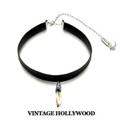[�������+Ư������][Ss15]Dripping Antique Crystal Choker Necklace_Sil