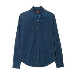 DOT SHIRT WITH BOW TIE