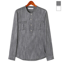 Two Pocket Henley Neck Co...