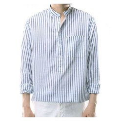 Linen Stripe Henly Shirts