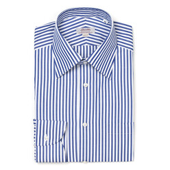 Navy Stripe Regular Colla...