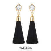 Libre Gema Pentagon Tassel Earrings