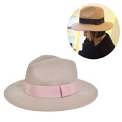Wool Felt Fedora_Powder Pink