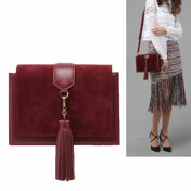 [30%����]Tass Tassel Bag - Burgundy