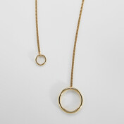 Three Ways Two Circles Long Necklace