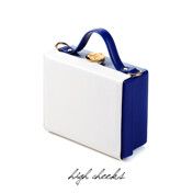 High Cheeks Color Block Trunk Bag_White