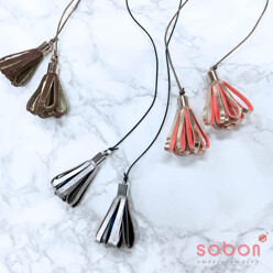 sobon [Only Sobon] 2 Tone Coloring Leather Tassel Long N 할인가 38,000원