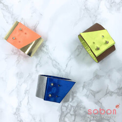 sobon [Only Sobon] 2 Tone Coloring Leather Bracelet 할인가 32,000원