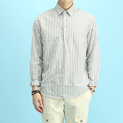 MATT BLACK [10%쿠폰증정!]Win Stripe Linen Shirts  할인가 32,300원
