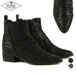 KUHEE [역시즌세일][Kuhee] 역시즌세일 Glitter Ankle Boots(4215-1) 할인가 89,000원