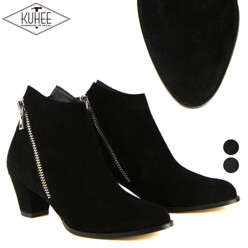 KUHEE [역시즌세일][Kuhee] 역시즌세일 Simple Wing Zipper Ankle Boots( 할인가 89,000원