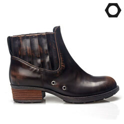 LOW FLOW [팔찌증정]Leather Adobang Point Brown Boots 할인가 211,000원