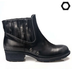LOW FLOW [팔찌증정]Leather Adobang Point Black Boots 할인가 211,000원