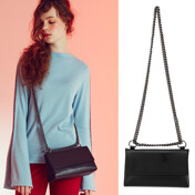 Triangle  Chain Bag(Real Leather)_Black