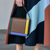 17ss 3-Way Colorblock Leather Bag