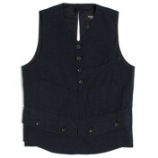 Shooting Vest_Navy Slub