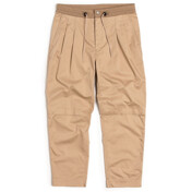 2 Pleated Drawstring Pants_Beige