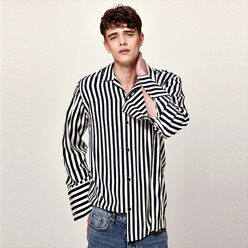 Refreshing Stripe Shirts (Navy)