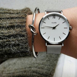 [CLUSE] 미닛 메쉬 SILVER/WHIT...