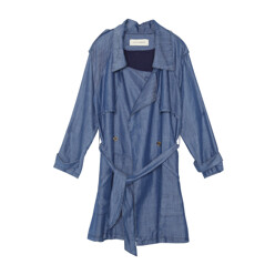 3sum Loose Fit Trench Summer Chambray