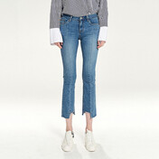 Pintuck Line Ankle Jean