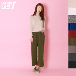 [Set] Pretty Round Tee + Easy Wide Pants