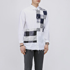 Patchwork Cutting Wahing Shirts