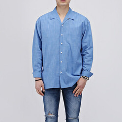 Grid Open Collar Shirts