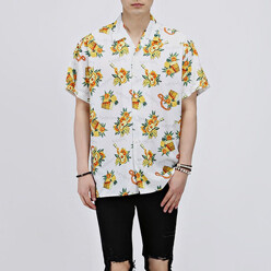 Hawaiian Printing 1/2 Shirts