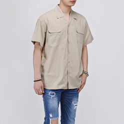 Open Collar 1/2 Shirts