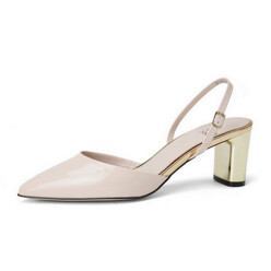 [Suecommabonnie] Pointed Toe Sling Back(Beige)_Dg2