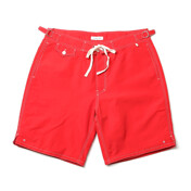 Classic Surf Shorts, Red (Mid-Length)