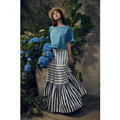 Stripe Cancan Skirt (R/L)