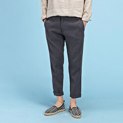 Linen Washing Ankle Pants