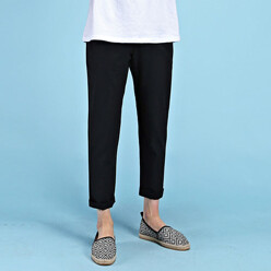 Linen Band Ankle Pants