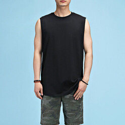 Layered Vent Sleeveless Tee