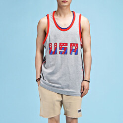 Usa Star Sleeveless Tee