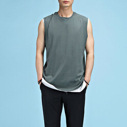 Cutting Rollup Sleeveless Tee
