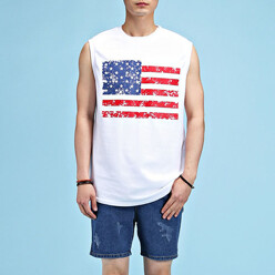Stars And Stripes Sleeveless Tee