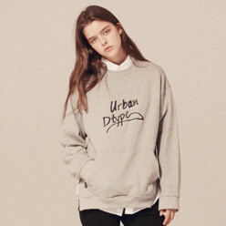 Typo Side Slit Sweatshirts_Lt162