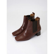 17fw Square Toe Chelsea Boots (Brown)