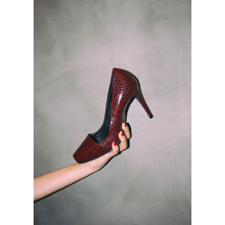Urban Python Open-Toe Burgundy