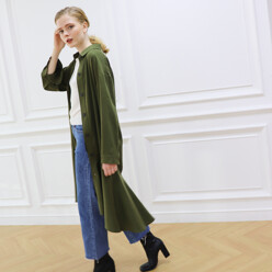 Low Flare Unbalance Trench Coat_2colors