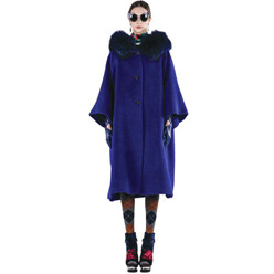 Hooded Racoon Fur Cape Co...